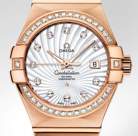 With the perfect combination of rose gold and diamonds, his fake Omega watch can be said as a wondefil masterpiece.