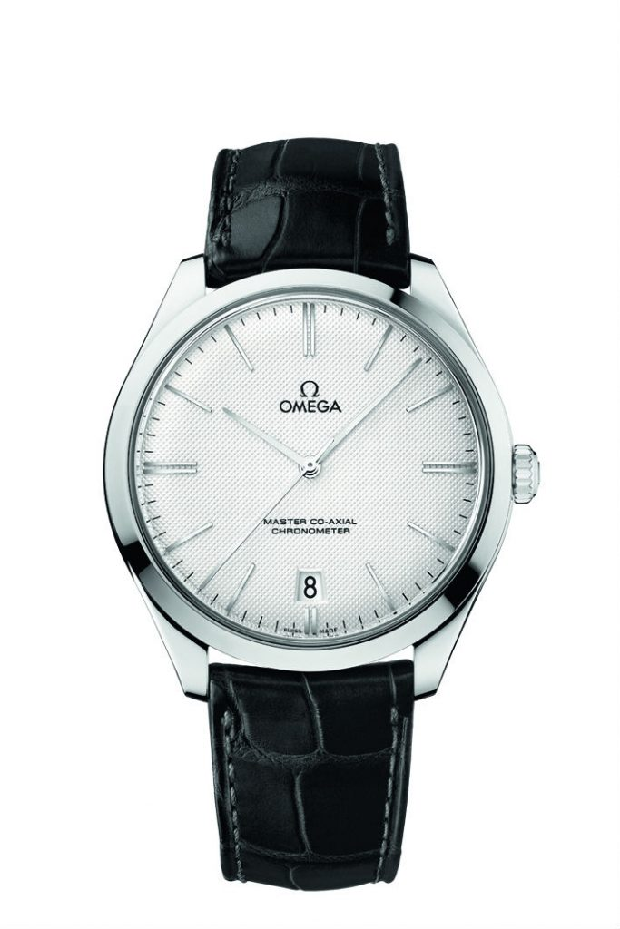 Adhering to the classical and elegant design style, this white dial fake Omega De Ville watch appeared with elegance.