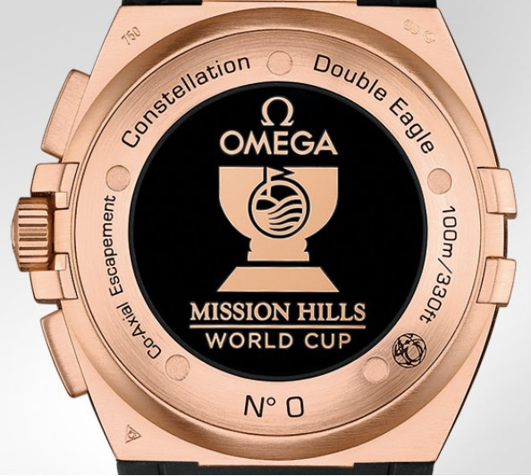 With red gold casebody, this replica Omega watch also gives people a luxurious feeling.