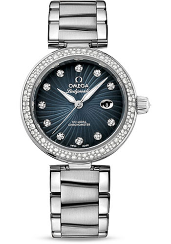 Adopting the dazzling diamonds, this fake Omega watch also can show a luxurious design style.
