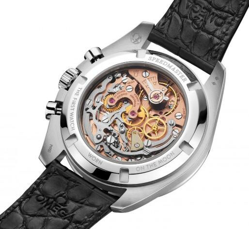 The prominent movement could be viewed through the transparent caseback.