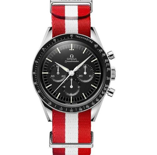 The white-red NATO strap is eye-catching and dynamic.