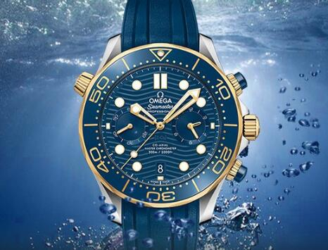 The Omega Seamaster has combined the sporty design with chronograph function well.